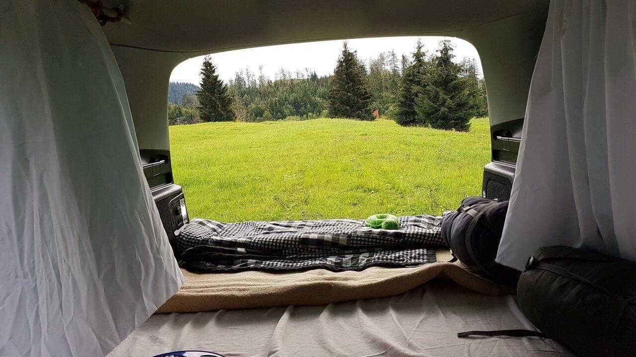 nimblecamper sharan diy car camping bed sleeping 3 1