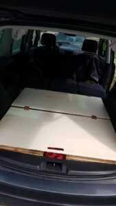 sharan car camping sleeping bed storage DIY3 1