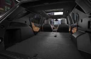 2018 Chevy Equinox rear folded seats car camping