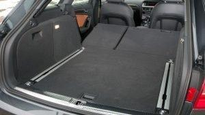 audi a4 2011 rear seats folded down