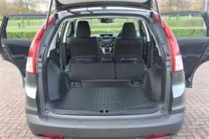 honda crv rear seats folded car camping