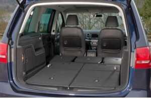sharan seats folded down car camping