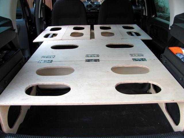 Minimal & simple DIY Skoda Roomster camper conversion