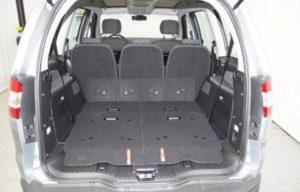 Ford Galaxy 2010 boot seats folded back