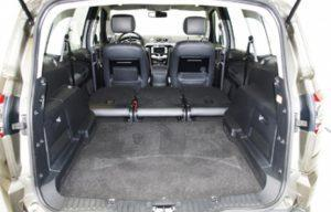 Ford S Max 2010 boot seats folded back