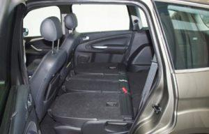 Ford S Max 2010 boot seats folded side
