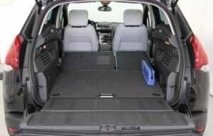 Peugeot 3008 2014 boot seats folded trunk