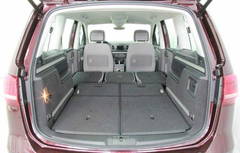 VW Sharan 2015 boot rear seats folded3