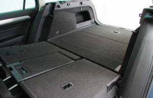 VW passat rear seats folded boot