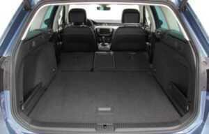 VW passat rear seats folded boot2