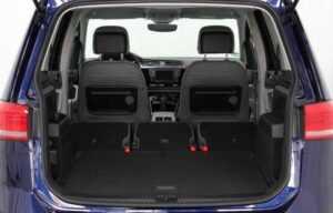 VW touran 2016 rear seats folded boot