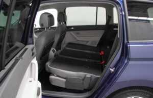 VW touran 2016 rear seats folded side