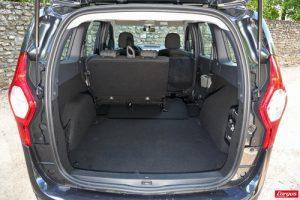 dacia lodgy boot trunk seats down