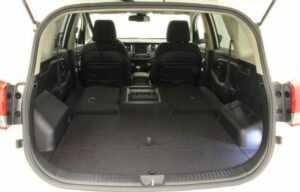 kia carens 2014 boot rear seats folded