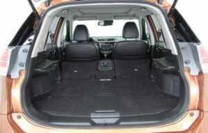 nissan x trail 2014 boot seats folded
