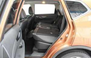 nissan x trail 2014 boot side seats folded