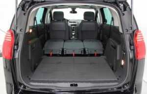 peugeot 5008 2014 boot rear seats folded