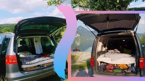 VW Sharan vs Caddy – which is better for a car camping conversion?